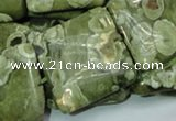 CRH20 15.5 inches 30*30mm square rhyolite beads wholesale