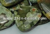 CRH34 15.5 inches 30*30mm triangle rhyolite beads wholesale