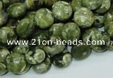 CRH35 15.5 inches 10mm flat round rhyolite beads wholesale
