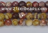 CRH518 15.5 inches 4mm faceted round rhyolite gemstone beads