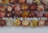 CRH519 15.5 inches 6mm faceted round rhyolite gemstone beads