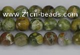 CRH526 15.5 inches 4mm faceted round rhyolite beads wholesale