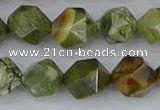 CRH544 15.5 inches 12mm faceted nuggets rhyolite beads wholesale