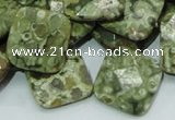 CRH75 15.5 inches 20*20mm faceted rhombic rhyolite beads wholesale