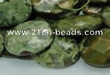 CRH92 15.5 inches 18*25mm faceted oval rhyolite beads wholesale