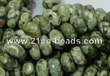 CRH96 15.5 inches 6*10mm rondelle rhyolite beads wholesale