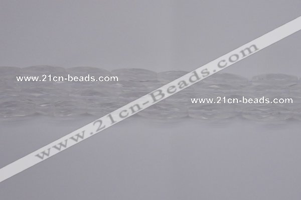 CRI01 15.5 inches 10*30mm faceted rice white crystal beads wholesale