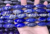 CRI101 15.5 inches 12*30mm rice lapis lazuli gemstone beads