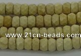 CRI220 15.5 inches 4*6mm faceted rondelle riverstone beads