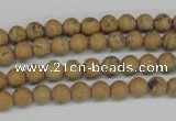 CRO08 15.5 inches 6mm round Chinese picture jasper beads wholesale