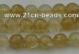 CRO1030 15.5 inches 4mm faceted round yellow watermelon quartz beads