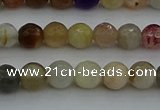CRO1041 15.5 inches 6mm faceted round mixed gemstone beads