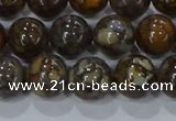 CRO1173 15.5 inches 10mm round fire lace opal gemstone beads