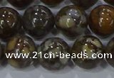 CRO1175 15.5 inches 14mm round fire lace opal gemstone beads