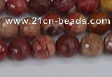 CRO1190 15.5 inches 8mm faceted round red porcelain beads