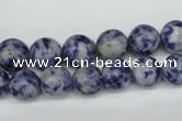 CRO246 15.5 inches 10mm round blue spot stone beads wholesale