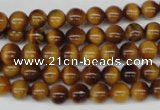 CRO26 15.5 inches 6mm round yellow tiger eye beads wholesale