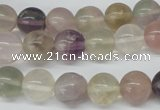 CRO381 15.5 inches 14mm round rainbow fluorite beads wholesale