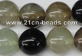 CRO437 15.5 inches 16mm round agate gemstone beads wholesale
