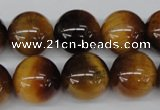 CRO453 15.5 inches 16mm round yellow tiger eye beads wholesale