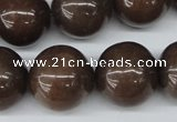 CRO494 15.5 inches 18mm round purple aventurine beads wholesale