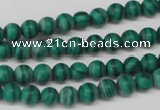 CRO52 15.5 inches 6mm round synthetic malachite beads wholesale