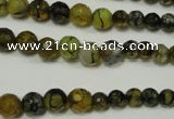 CRO703 15.5 inches 6mm – 14mm faceted round dragon veins agate beads