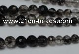 CRO749 15.5 inches 6mm – 14mm faceted round watermelon black beads