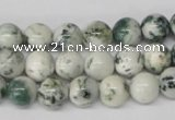 CRO81 15.5 inches 8mm round tree agate gemstone beads wholesale