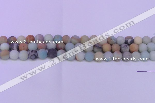 CRO814 15.5 inches 12mm round matte amazonite beads