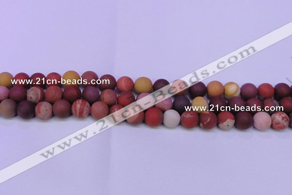 CRO822 15.5 inches 8mm round matte mookaite beads