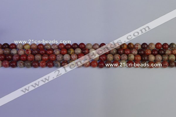 CRO870 15.5 inches 4mm round red porcelain beads wholesale