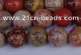 CRO874 15.5 inches 12mm round red porcelain beads wholesale