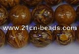 CRO885 15.5 inches 14mm round elephant blood stone beads