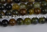 CRO900 15.5 inches 4mm round golden pietersite beads wholesale