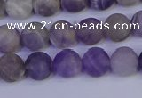 CRO922 15.5 inches 8mm round matte dogtooth amethyst beads