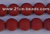 CRO945 15.5 inches 14mm round matte red jasper beads wholesale