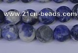 CRO952 15.5 inches 8mm round matte sodalite beads wholesale