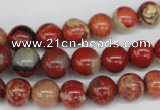 CRO99 15.5 inches 8mm round red jasper beads wholesale