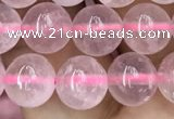 CRQ417 15.5 inches 8mm round rose quartz beads wholesale