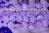 CRQ435 15.5 inches 16*16mm faceted heart rose quartz beads wholesale