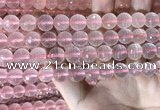 CRQ445 15.5 inches 10mm faceted round rose quartz beads