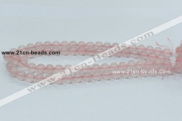 CRQ52 15.5 inches 10mm round natural rose quartz beads wholesale