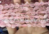 CRQ551 15.5 inches 10mm faceted coin rose quartz beads wholesale