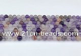 CRU1012 15.5 inches 6mm round mixed rutilated quartz beads