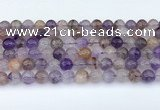 CRU1013 15.5 inches 8mm round mixed rutilated quartz beads