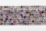 CRU1017 15.5 inches 4mm round mixed rutilated quartz beads