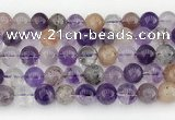 CRU1020 15.5 inches 10mm round mixed rutilated quartz beads