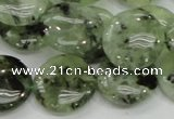CRU111 15.5 inches 20mm flat round green rutilated quartz beads