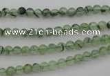 CRU145 15.5 inches 4mm round green rutilated quartz beads